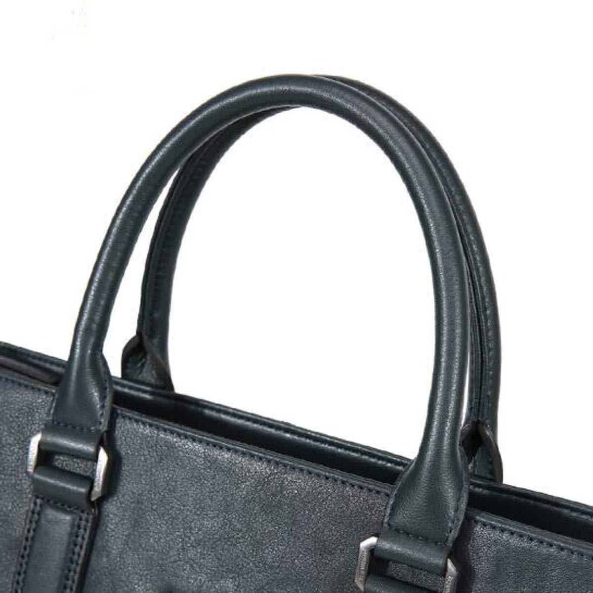 Dark Blue Large Size: 387.529cm Kehuitong Briefcase Business Leather Casual One-Shoulder Mens Computer Bag Large-Capacity Mens Handbag Casual Mens Business Bag