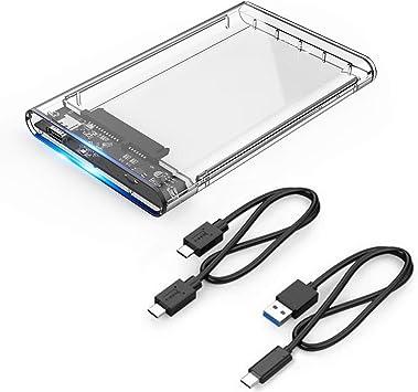ORICO USB 3.1 (10 Gbps) Caja de disco duro externo USB C para disco duro SATA III SSD HDD de 2,5 pulgadas: Amazon.es: Electrónica