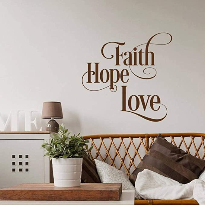 ZGHNZK Faith Hope Love Tatuajes de pared Etiqueta de la pared ...