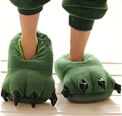 Adult /& Kids Sizes In Stock Alligator Slippers Green Animal Slippers