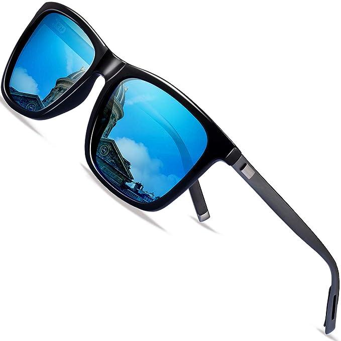 FEIDU - Gafas de sol - para hombre azul L: Amazon.es: Ropa y ...