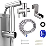 IUMÉ Bidet Sprayer Toilet Handheld Kit for Cloth Diapers Water Sprayer Easy to Install Bathroom Jet Sprayer Attachment…