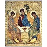 Media Storehouse 10x8 Print of The Holy Trinity, 1420s (tempera on panel) (for copy see 40956) (12873083)