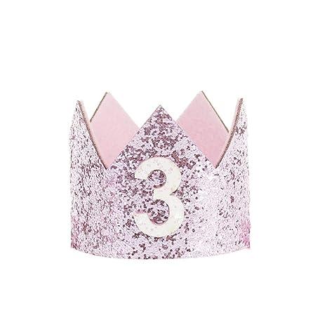 Adorable Corona elástica de cumpleaños para bebés y niñas ...