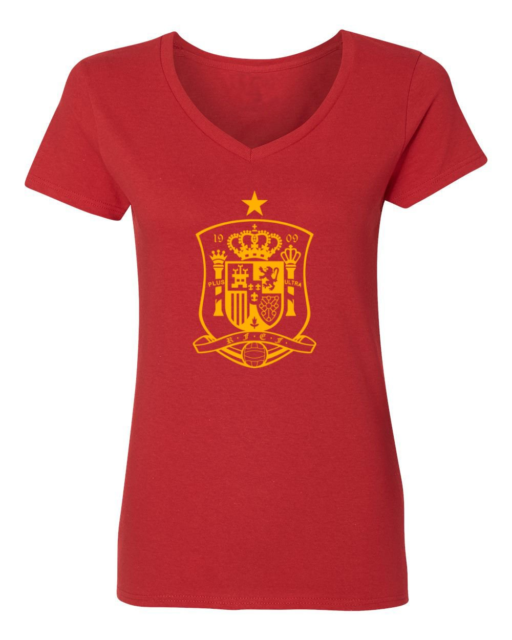 8bf886c5f Amazon.com  Tcamp Spain 2018 National Soccer  22 ISCO World Championship  Women s V-Neck Tshirt  Sports   Outdoors