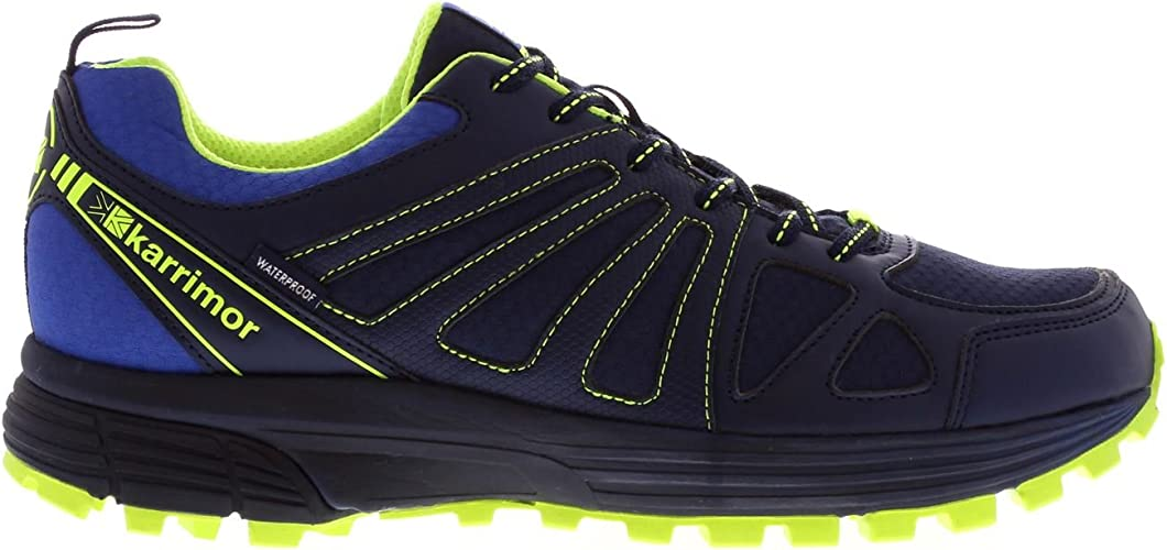 Karrimor Hombre Caracal Zapatillas Impermeable Trail Running Azul ...