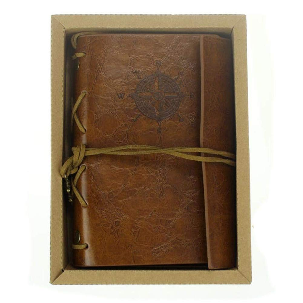 10.5 Ndier Nuovo Vintage Leather Cover Art Journal Notebook Diary // 5.7 2.5 cm 4.1 marrone 1,0 pollici Cancelleria e Prodotti per Ufficio L * W * H Brown 14.5