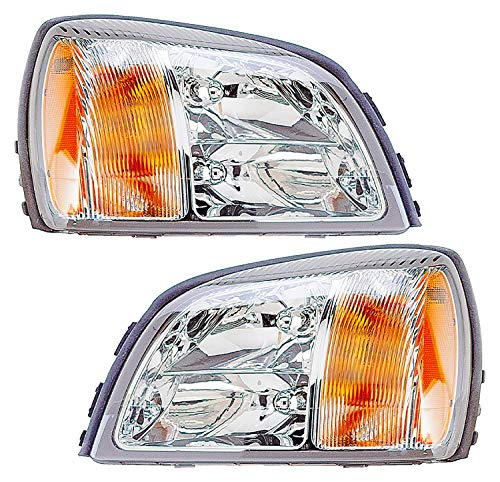 For Cadillac Deville Headlight 2003 Driver and Passenger Side Headlamp Assembly Replacement