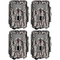 Bushnell HD Aggressor Trophy Cam HD 24MP Low-Glow Trail Camera, Records 1080p Video with Sound (4-Pack)