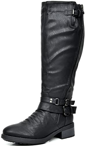 DREAM PAIRS Women's Knee High And Up Riding Boots (Wide Calf Available)