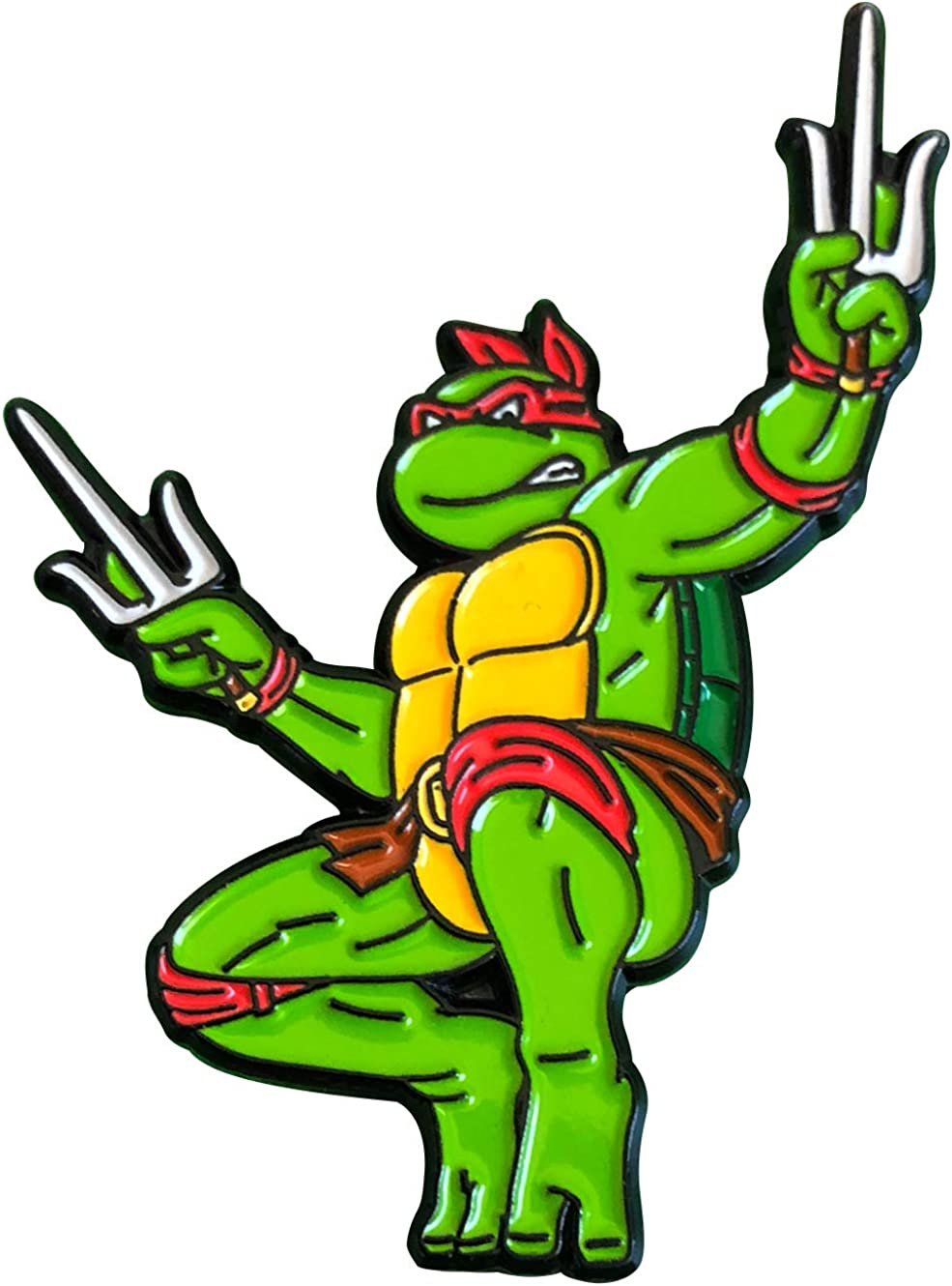 Amazon.com: Leaping Raphael: Teenage Mutant Ninja Turtles Collectible Pin:  Clothing