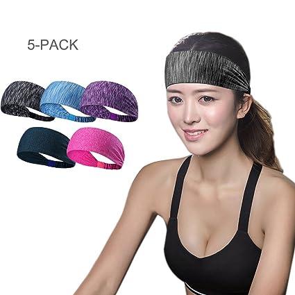 Amazon.com : Sports Headband Sweatband - Sweat Wicking ...