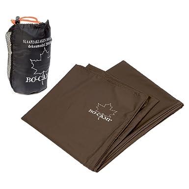 BoCamp - Sábanas para saco de dormir de seda y algodón, 210 x 80 cm, color marrón: Amazon.es: Ropa y accesorios