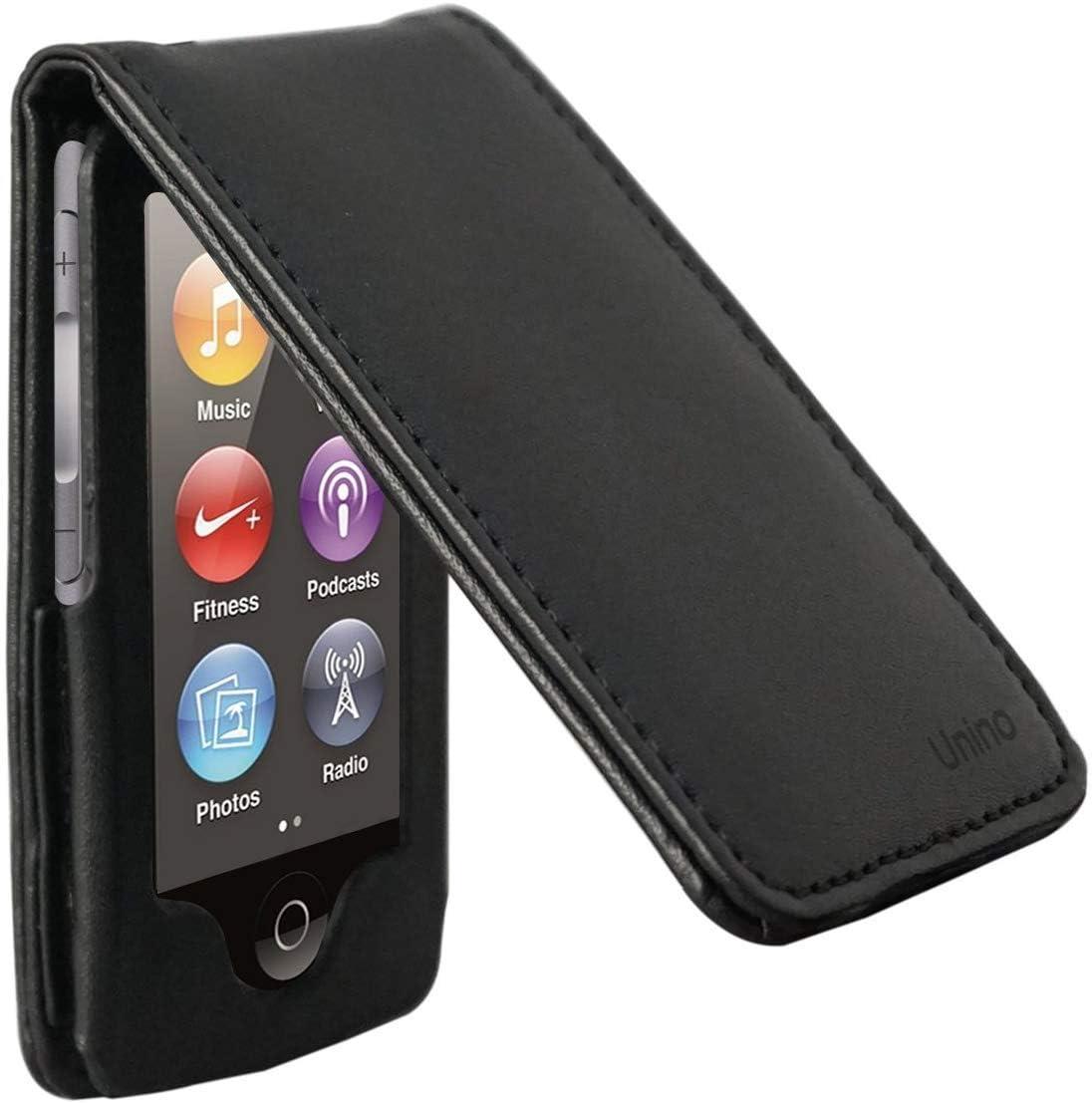 Unino iPod Nano 7 Flip Case P/U Vegan Leather (Version 3) (Black)