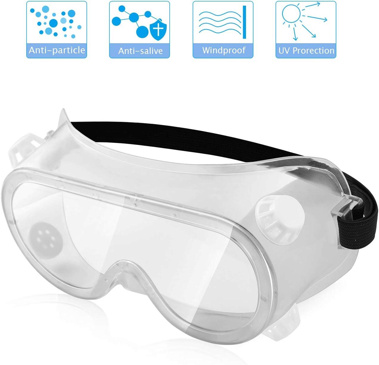 Gafas de seguridad, totalmente cerradas con protección UV para mantener tu seguridad en cualquier entorno, con cuatro rejillas de ventilación (viene con paño para gafas)