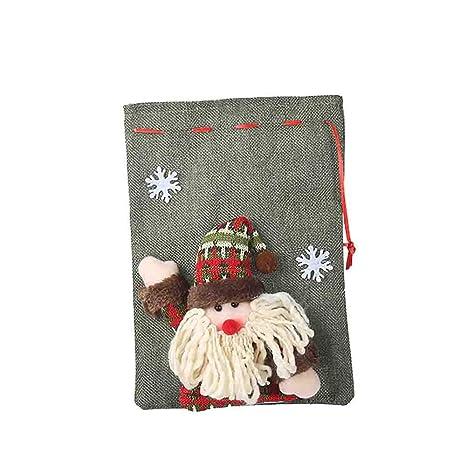 Firlar Santa Claus Muñeca de Alce con cordón Bolsas de ...