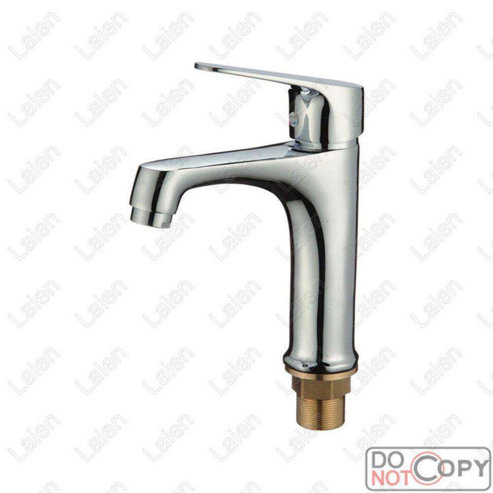 WasserhahnTap Tutto il rame bacino rubinetto caldo e freddo rubinetto singola maniglia singolo foro miscelazione del rubinetto