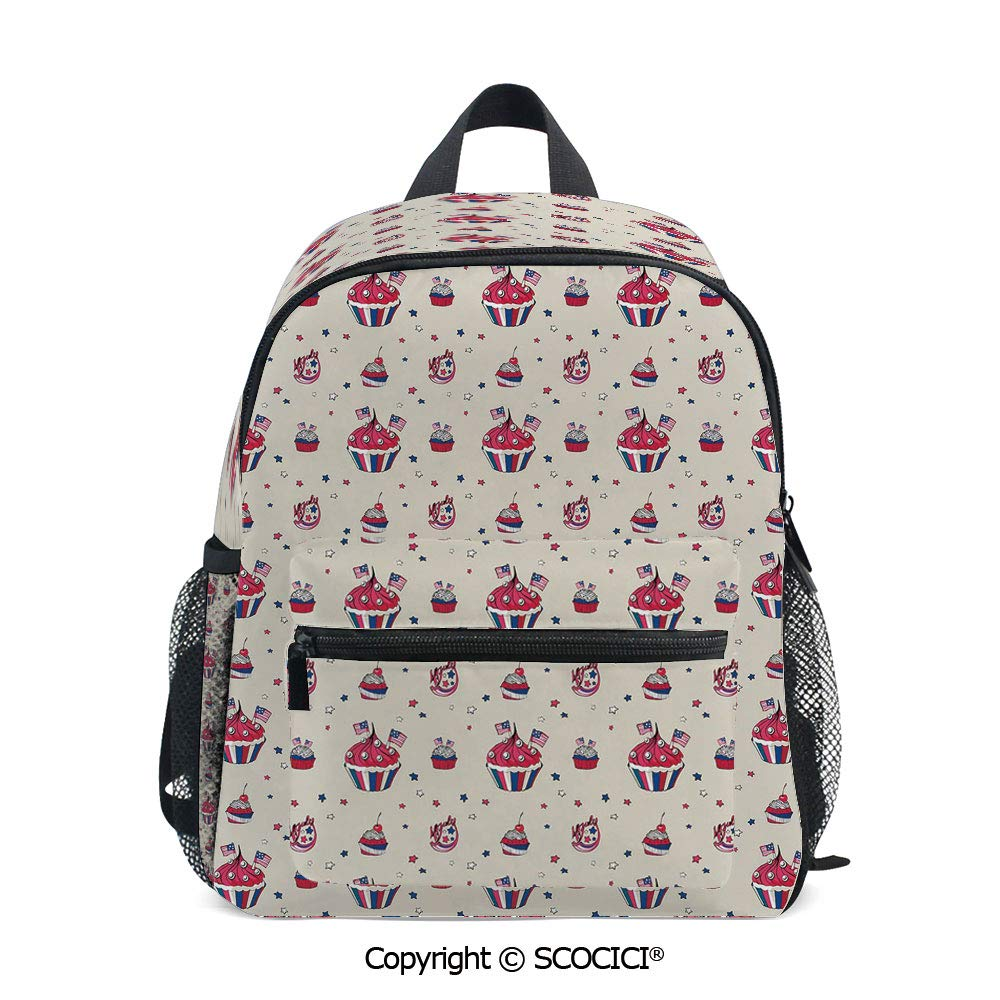 SCOCICI Extra Durable Backpack Cupcakes with National Perfect for Kids Daily Use by SCOCICI