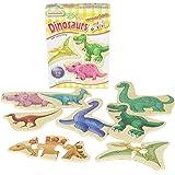 Masterkidz Wooden Dinosaurs Mini Puzzles Set, Multicolour