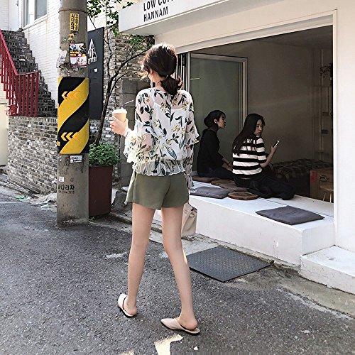 Baotou rete femminile mezza tacco mezza piatte punta Scarpe senza estate rossa Muler DHG a caff C0zwOYq
