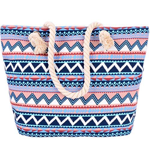 Pink Bag Shoulder Canvas Beach and Bag For Shopping Ladies Women Holiday Bag Tote Travel Girls Bag AuBer qUXawpYFa