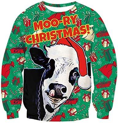 Eoeth Couple Christmas Fun 3D Print Short Sleeve Merry Christmas T-Shirt Top Blouse Pullover
