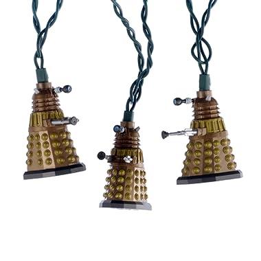 Kurt Adler 10-Light Doctor Who Bronze Dalek Light Set