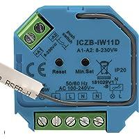 icasa Zigbee 3.0 dimmer | 230V-200/400W | 3 Draads (Heeft nuldraad nodig) |fase afsnijding | Compatible met Zigbee 3.0…