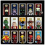 1 Display Geek Exclusive Stackable Toy Shelf for 4 in. Vinyl Collectible Figures, Black Corrugated Cardboard
