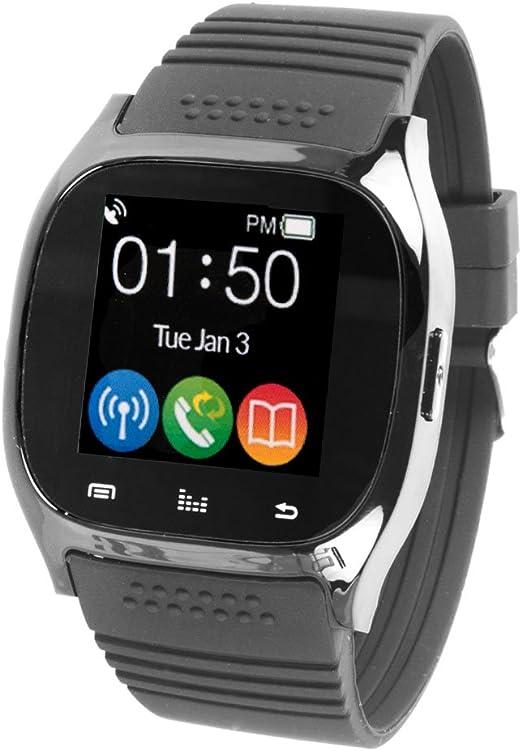 Amazon.com: Supersonic Reloj Inteligente Bluetooth Negro ...