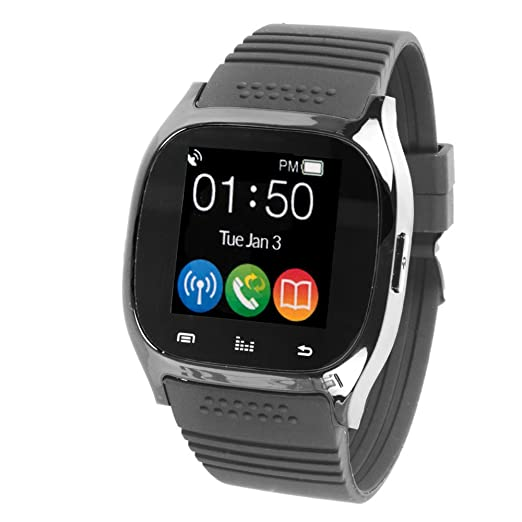 Amazon.com: Supersonic Reloj Inteligente Bluetooth Negro ...