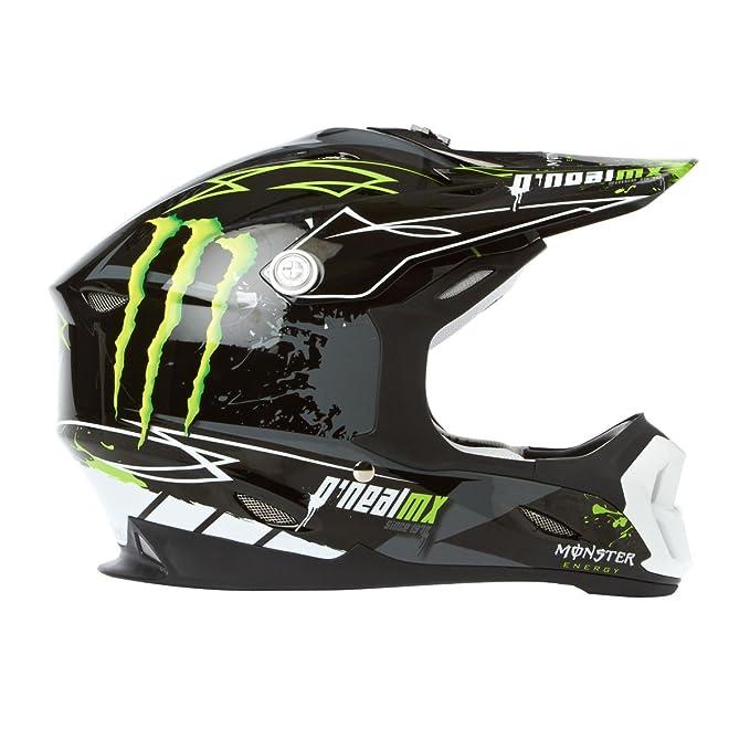O Neal 712 Monster Motocross Enduro casco para bicicleta de montaña negro/verde 2014 Oneal: Amazon.es: Deportes y aire libre