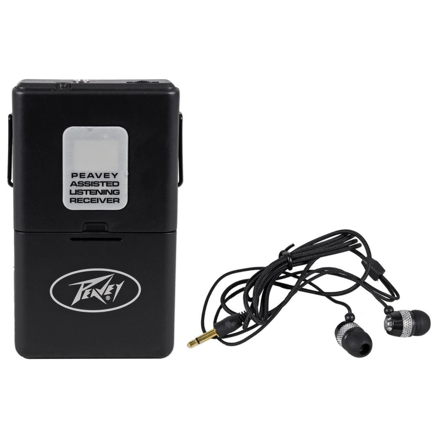 Peavey ALSR 72.1 Mhz Assisted Listening Receiver Body Pack for ALS 72.1 System Antenna–Integral With Earphones