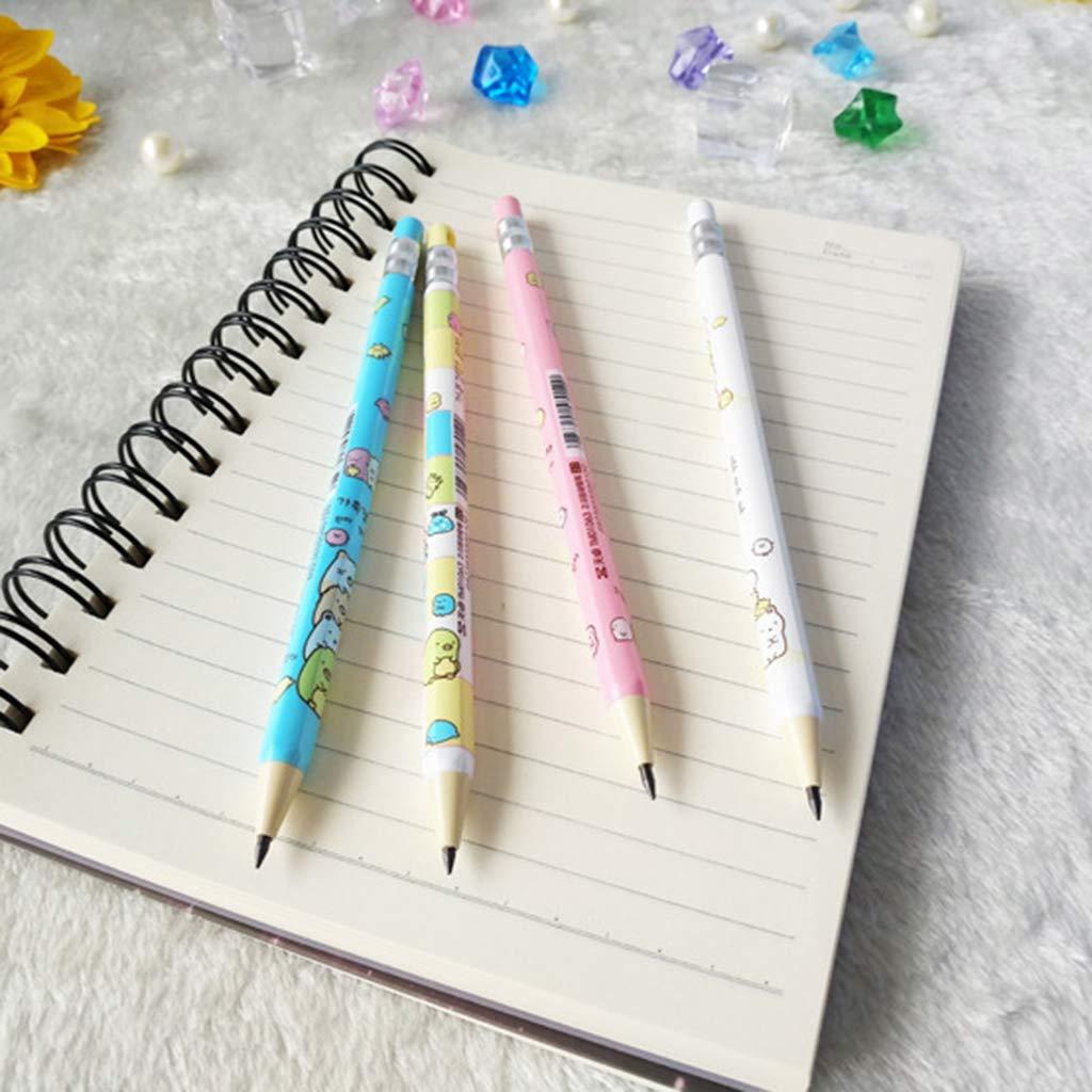 papeler/ía Juego de 4 l/ápices mec/ánicos de 2,0 mm para dibujo pintura art/ística de estudiantes regalos color aleatorio Bassk