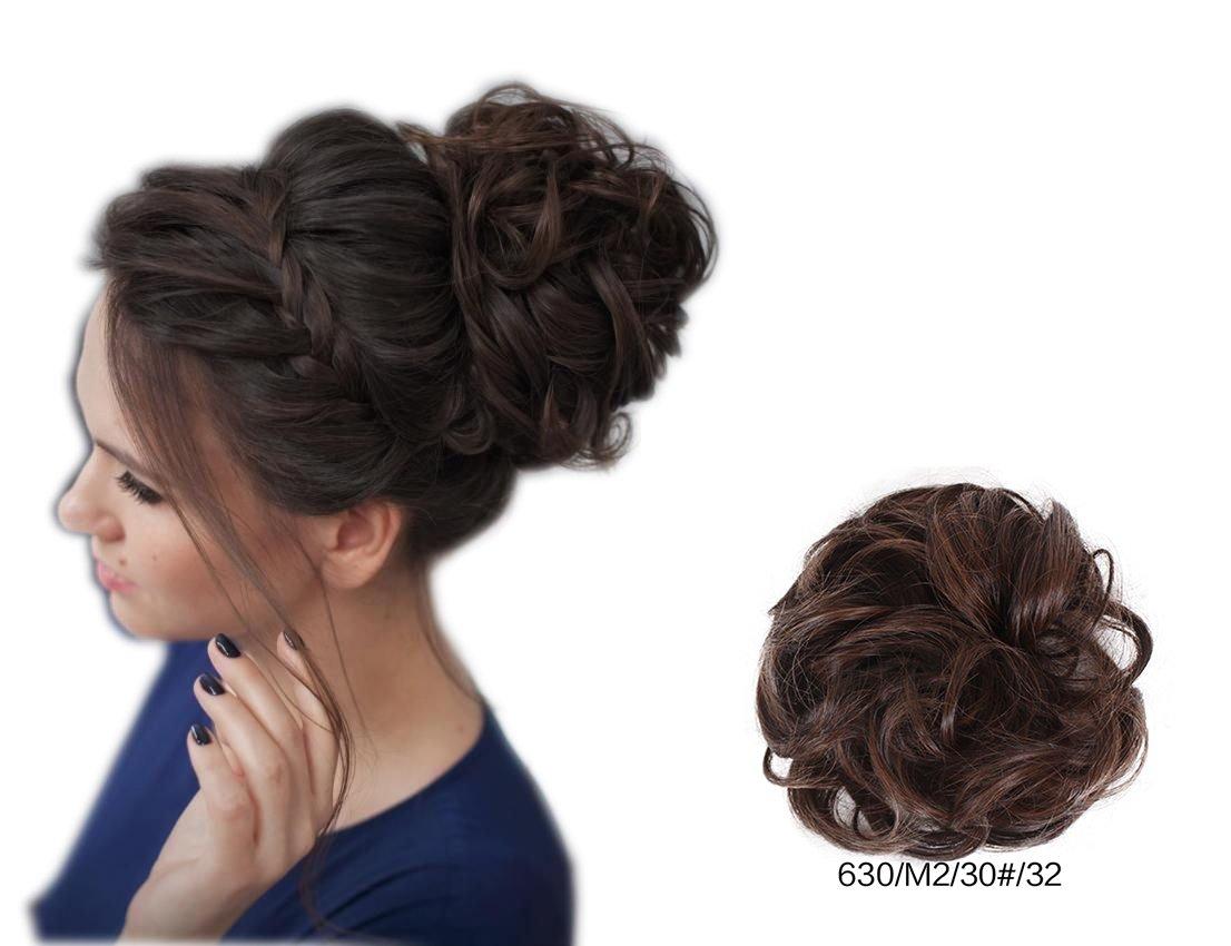 ShowPower Perruque Court Bouclé Femmes Extension de Cheveux Chignon Postiches (Blond Clair) BUN-630/60#/22