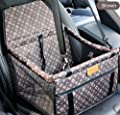 SWIHEL Pet Car Booster Seat Travel Carrier Cage, Oxford Breathable Folding Soft Washable Travel Bags for Dogs Cats or Other Small Pet. from SWIHEL