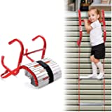 13 Feet Retractable Fire Escape Ladder - Portable Two-Story Emergency Kiddie Safety Window Ladder with Wide Steps…