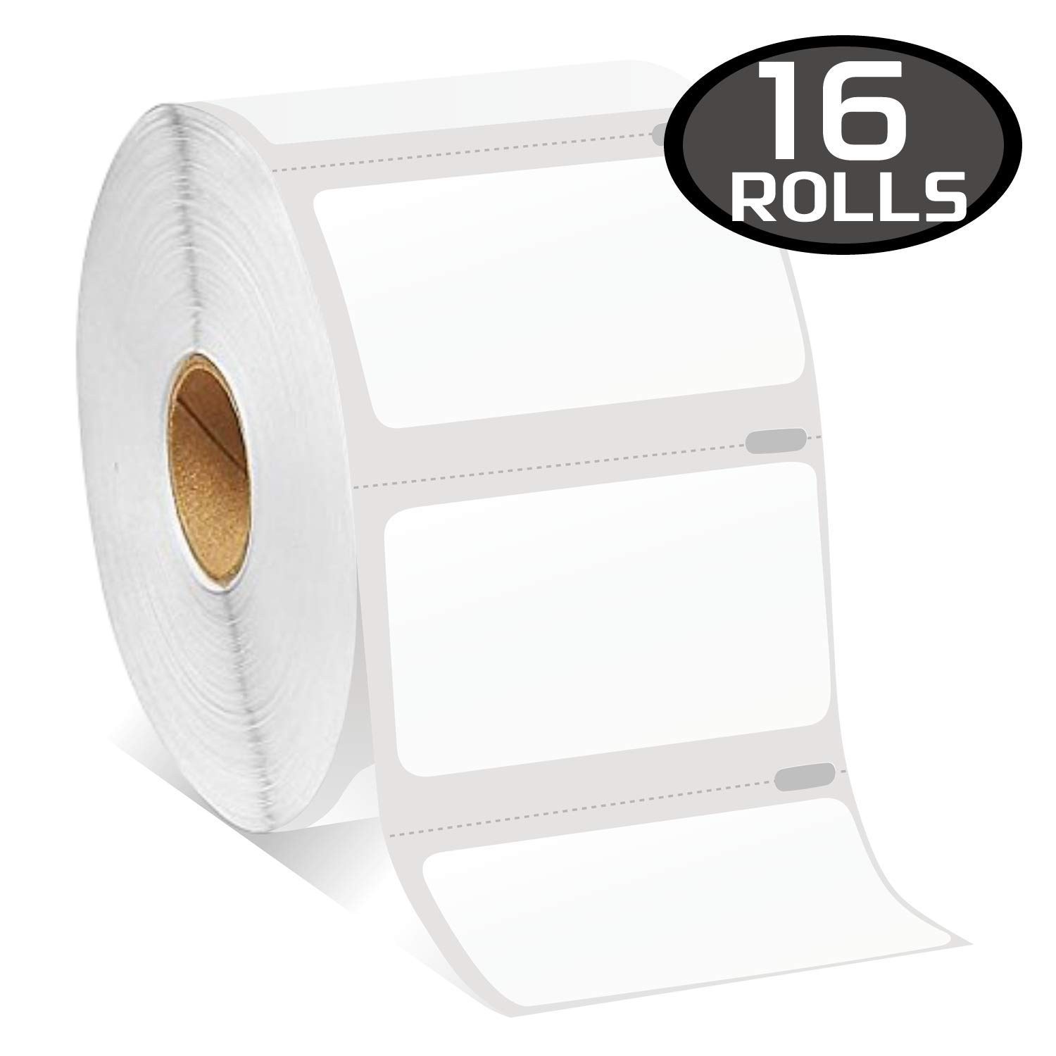 16 Rolls DYMO 30334 Compatible 2-1/4'' x 1-1/4''(57mm x 32mm) Medium Multipurpose/Barcode/FNSKU/UPC Labels,Strong Permanent Adhesive, Perforated