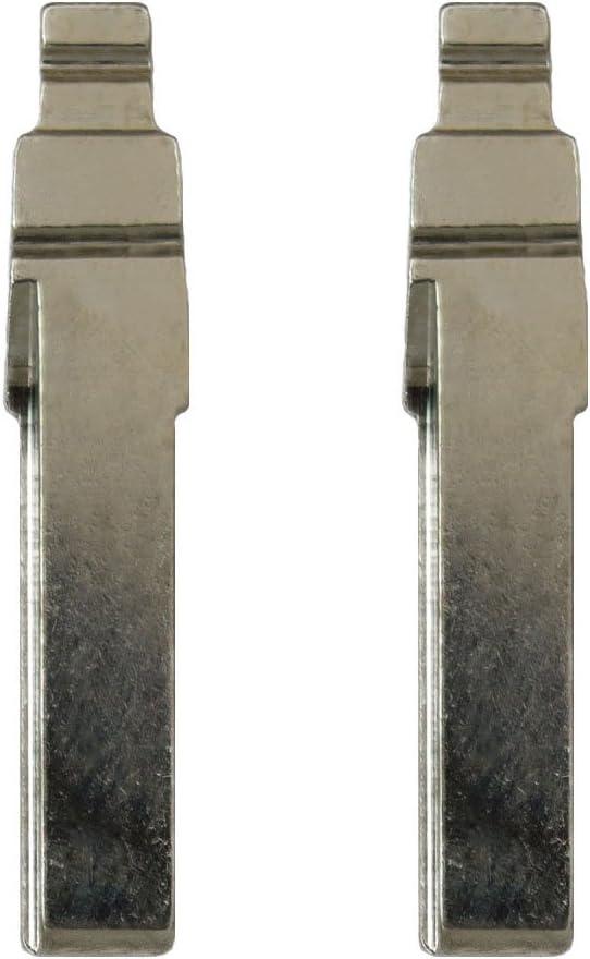 2 Pack Keyless2Go New Uncut Replacement Flip Key Blade HU75T