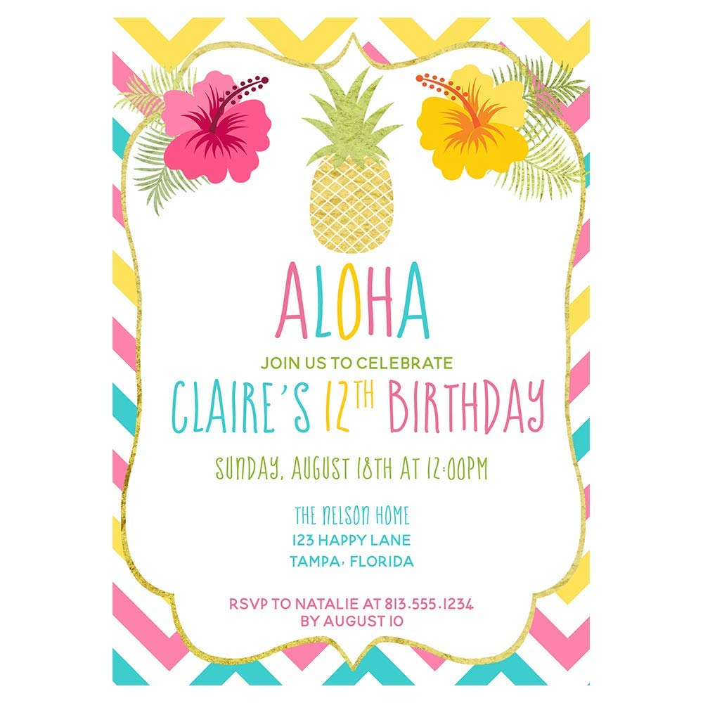 It is an image of Free Printable Luau Invitations pertaining to luau birthday