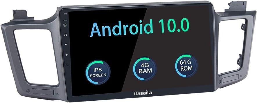 Dasaita 10 2 Android 10 Car Stereo For Toyota Rav 4 2015 2016 2017 2018 Bluetooth Radio Audio Gps Navigation Head Unit Multimedia Music Video Player Hexa Core 4g 64g Px6 Dsp Gps Navigation Amazon Com