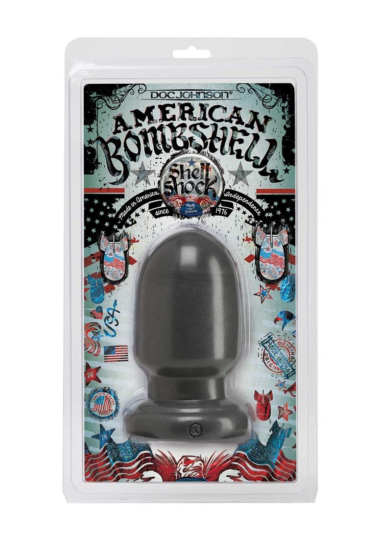 Doc Johnson American Bombshell - Shell Shock - Small - Vac-U-Lock and F Machine Compatible Dildo or Butt Plug - Gunmetal Grey by Doc Johnson (Image #2)