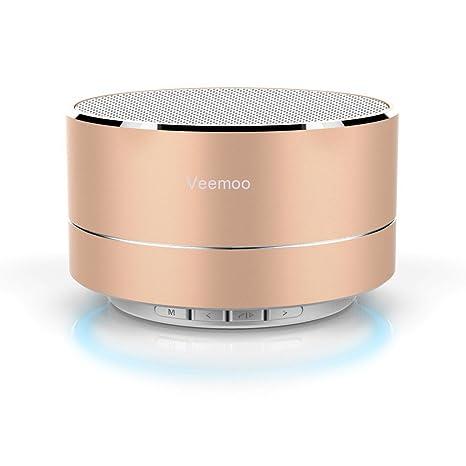 veemoo Mini inalámbrico altavoz Bluetooth portátil altavoces estéreo con micrófono soporte manos libres/audio/