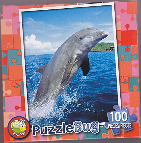 NEW Puzzlebug 100 Piece Puzzle - Bottlenose Dolphin ,#G14E6GE4R-GE 4-TEW6W269379