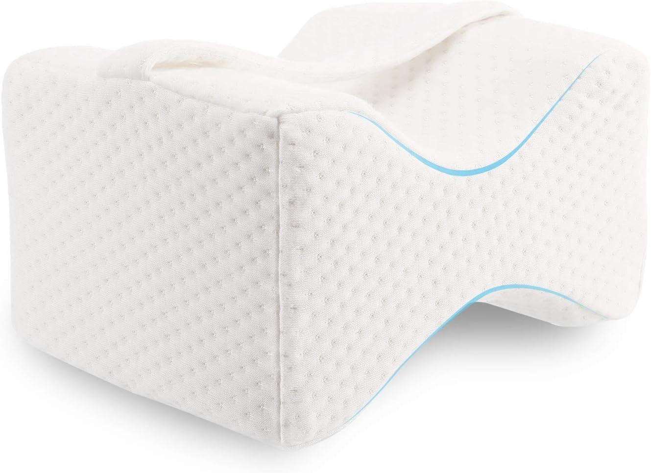 Almohada Piernas para Dormir, Ergonómico Cojín Ortopédico, Ideal para ciática, caderas, articulaciones, alivio de dolores de embarazo y dormir de lado - Opción Ideal para Dormir de Lado