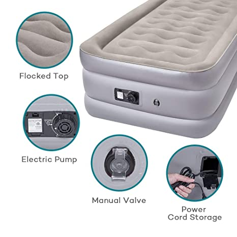 Cama hinchable individual, colchón de aire con mancha eléctrica ...