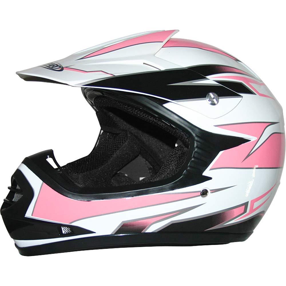 Brand:Leopard LEO-X15 Children Kids Motocross Full Face Motorbike Helmet Matt Red M - Off Road ECE-2205 Approved 51-52cm