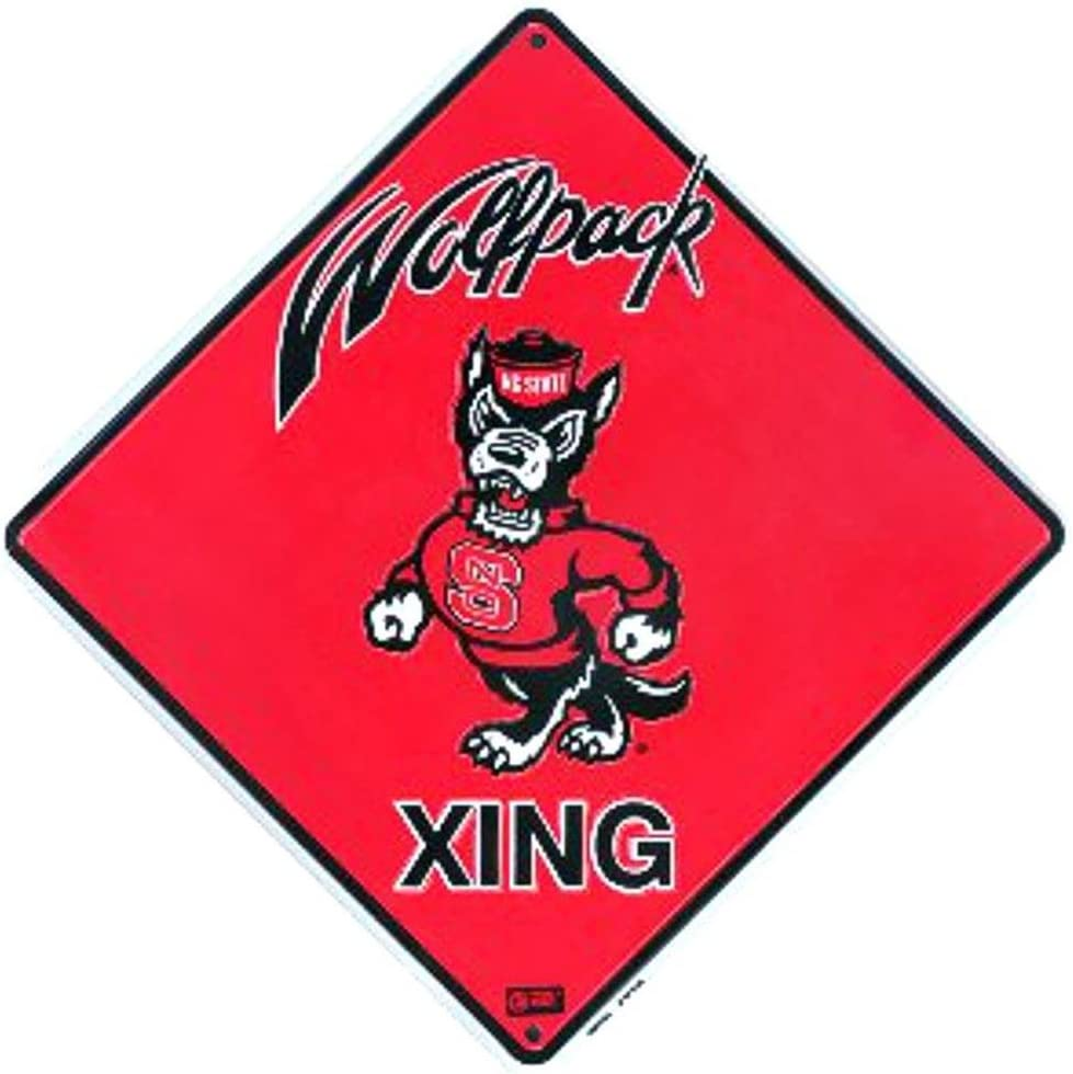 Signs 4 Fun SD67024 NC State Wolfpack Xing, Crossing Sign