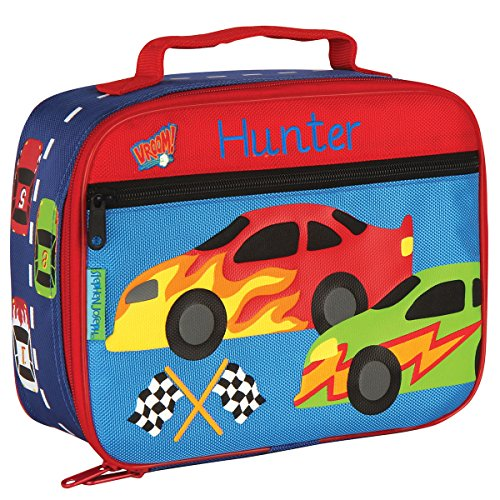 Personalized Stephen Joseph Race Car Lunch Box with Embroidered Name