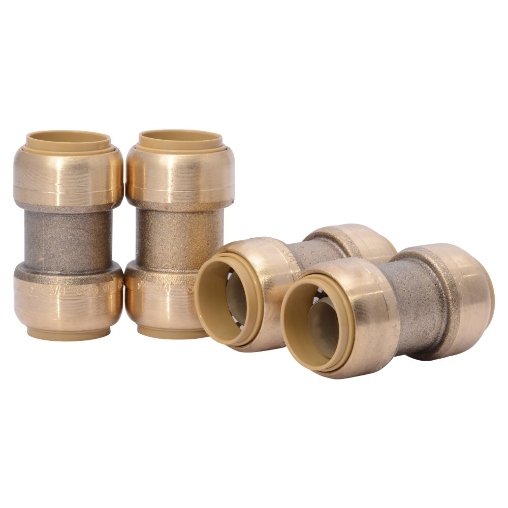 SharkBite 3/4-Inch Straight Coupling, Push-to-Connect, PEX, Copper, CPVC, 4 Count by SharkBite